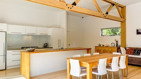 Marahau, Nova Zelândia: breakfast table