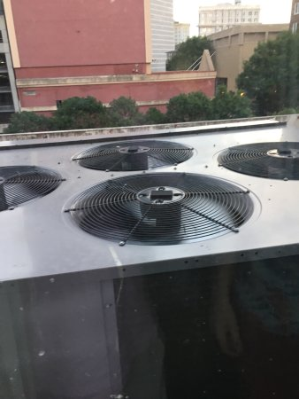 Holiday Inn Express & Suites Atlanta Downtown: The beautiful view of a vintage 1973 AC unit