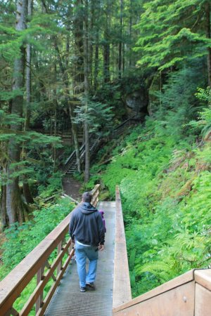 Horne Lake Caves Provincial Park: hiking to caves