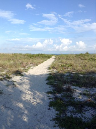Boca Grande, FL: The path from our cabin to the beach.  A two minute walk.
