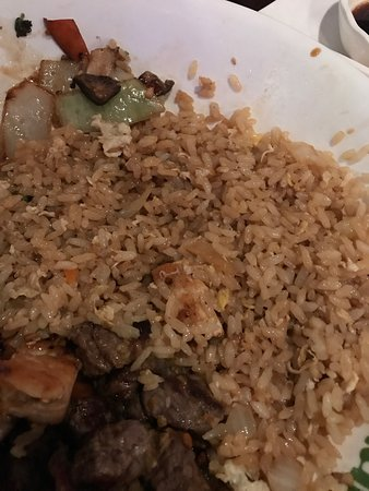 "Romeoville, IL: 2 different meals with ""vegetable"" fried rice- no vegetables. We let both the server & manager-"