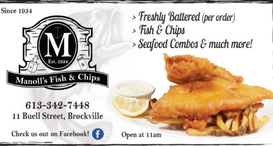 Brockville, Canadá: Make Manoll's your next stop for Fish & Chips