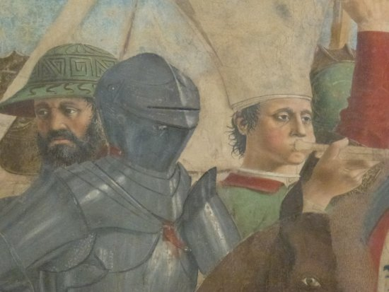 Arezzo, Itália: Detail of Victory of Heraclius over Persian King Khosrau