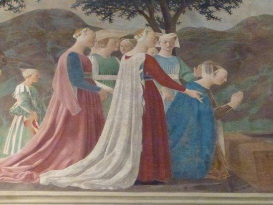 อาเรสโซ, อิตาลี: Queen of Sheba kneeling on the bridge over the Siloam River