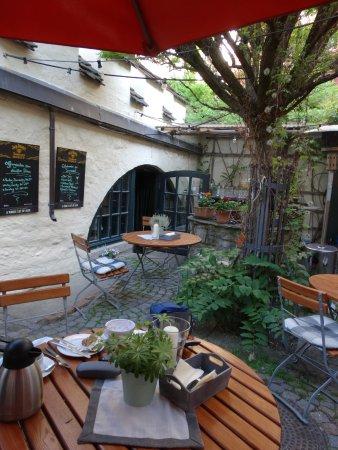 Plauen, Deutschland: Another View of the Biergarten Courtyard