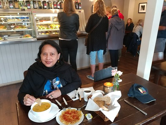 Geilo, Norway: Soup and Norwegian waffle
