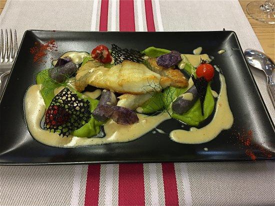 Itxassou, France: turbot aux gnocchis de patate verte