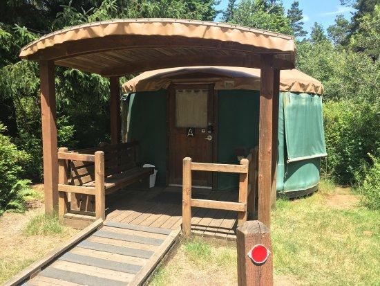 Lakeside, OR: Yurt A in loop A.