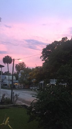 Sunset over Cassadaga - view from the hotel porch.