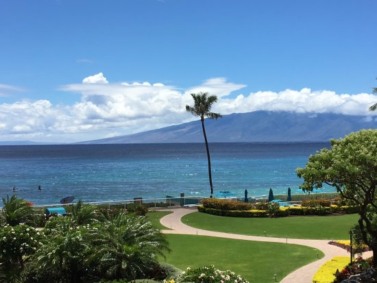 Aston at The Whaler on Kaanapali Beach: View from our balcony!