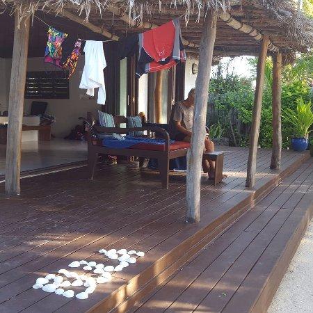 Navutu Stars Fiji Hotel & Resort: Own personal deck
