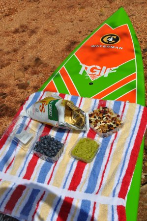 Hiawassee, Georgien: A delicious gourmet snack can be requested on any one of our Lake SUP tours.
