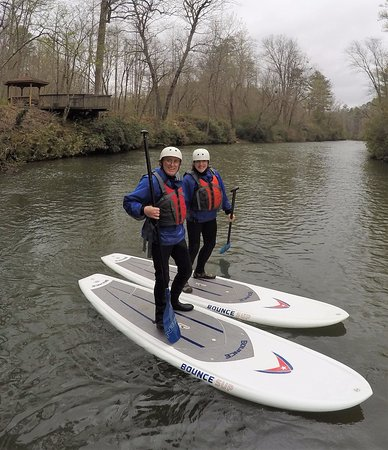 Hiawassee, GA: First timers ripping up the cool spring currents of the Upper Chattahoochee.