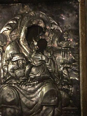 Mount Pantokrator : Icon inside the chapel