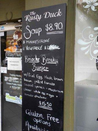 Moonee Ponds, Australia: Specials Board on the Street