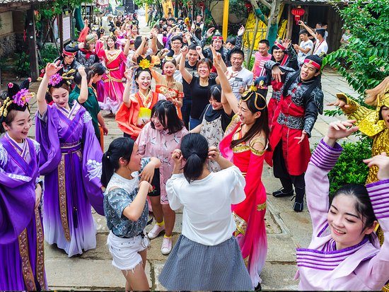 Ningxiang County, China: 景区互动体验活动——快闪