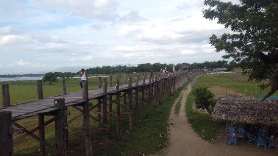 Amarapura, พม่า: ウ・ベイン橋 中州の商店