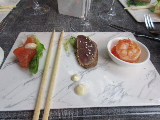 Purmerend, Niederlande: zalm tonijn gamba