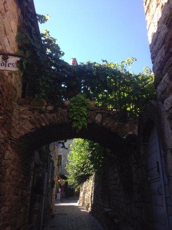 La Seigneurie de Naves: Le passage pour accéder au jardin et à la piscine