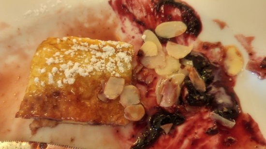 Menu, ham, crepes (pancake), and kaiserschmarrn