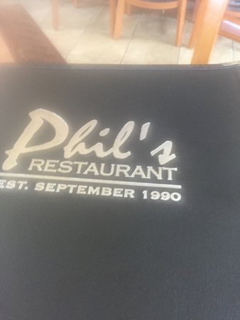 Wading River, NY: Phil's Menu