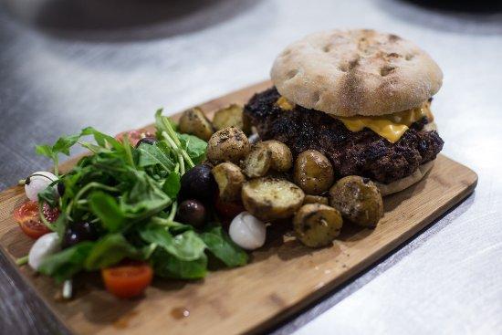 Senglea, Malta: Home-made oven baked Burger