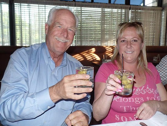 Glastonbury, CT: One of my colleagues and I enjoy a cocktail at Maggie's
