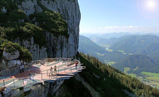 Waidring, Ausztria: Bergbahn Steinplatte