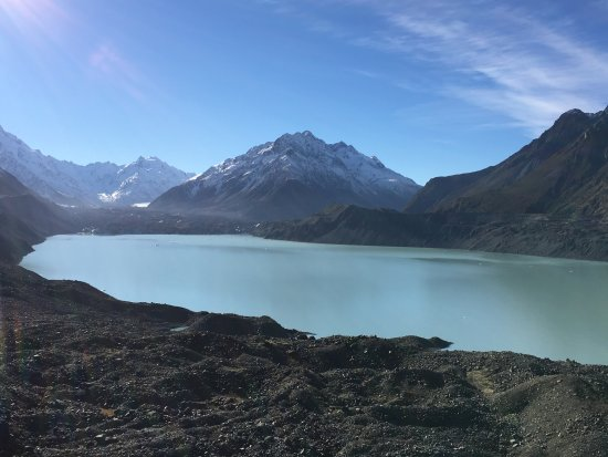 Aoraki Mount Cook National Park (Te Wahipounamu), New Zealand: Tasman Glacier and Tasman Glacier Lake