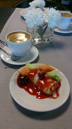 Olsztyn, Polandia: śniadanie