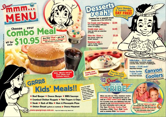 Silver Spur Steak Ranch: Kids Menu