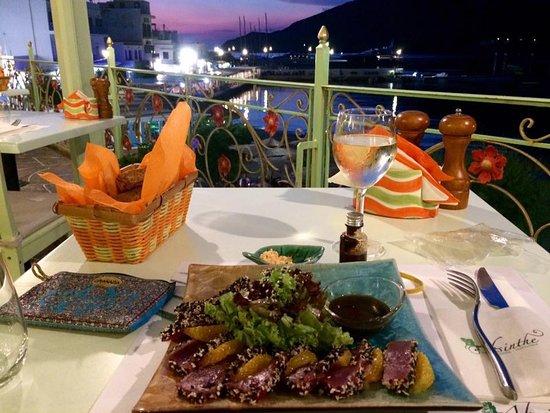 Absinthe : Seared tuna and a wonderful view!