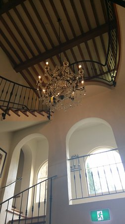 Howden, Australia: The central stair area and chandelier