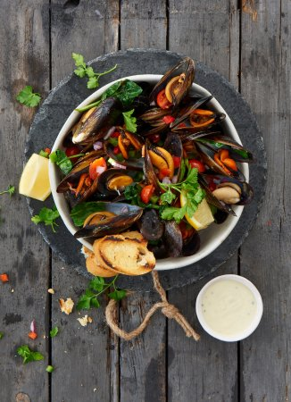 Cape Town Fish Market (V & A Waterfront): Mussels