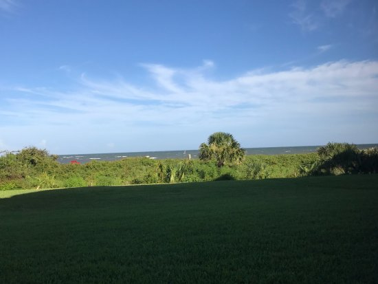 The King and Prince Beach and Golf Resort: View from patio.