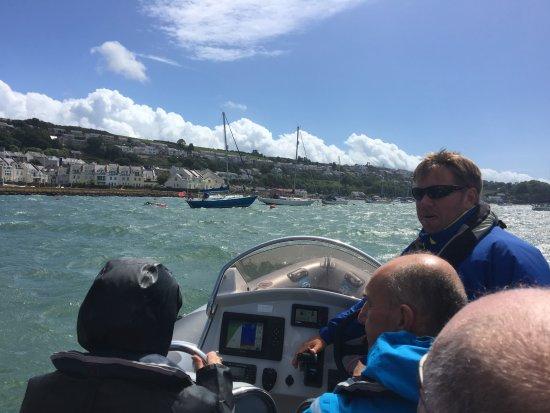 Menai Bridge, UK: Trigger & the Views from the Boat.