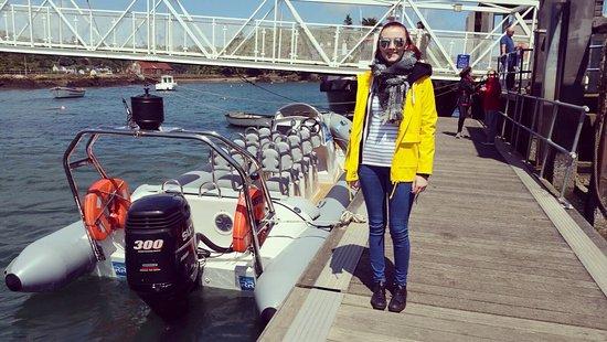 Menai Bridge, UK: Myself and the Boat, before!