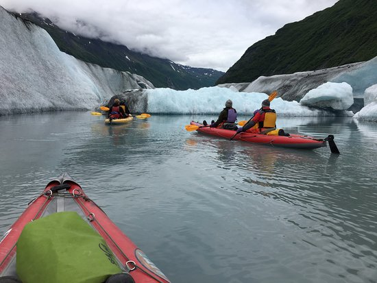 Kayaking an inlet of Valdez Glacier
