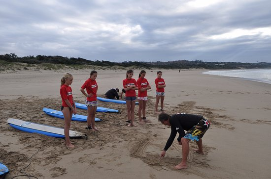 Margate, South Africa: Surf Action runs surf lessons all year round.