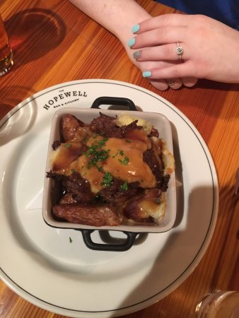 Fingerling Potato Poutine Duck Fat Roasted Potatoes Braised Short Rib Brown Gravy Cheese Cur Picture Of Hopewell Bar Kitchen Boston Tripadvisor