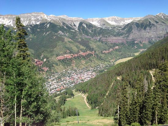 View of Telluride from the top