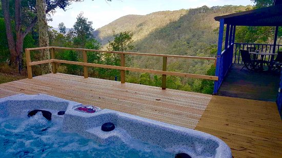 Vacy, Australia: View from Kirawa Spa Cabin
