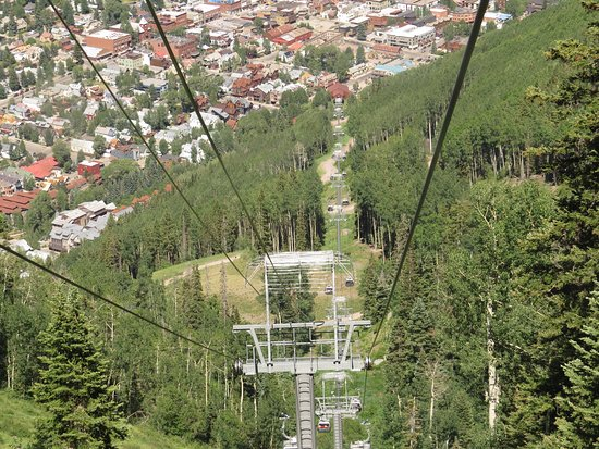 Going back down to Telluride on gondola