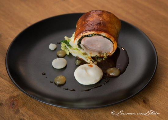 Antrim, UK: Pork wellington/Armagh apple/salt baked celeriac