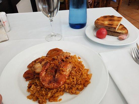 Sant Pere Molanta, Spain: Paella de menù