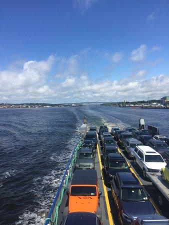 New London, CT: Atravessando na Cross Sound Ferry