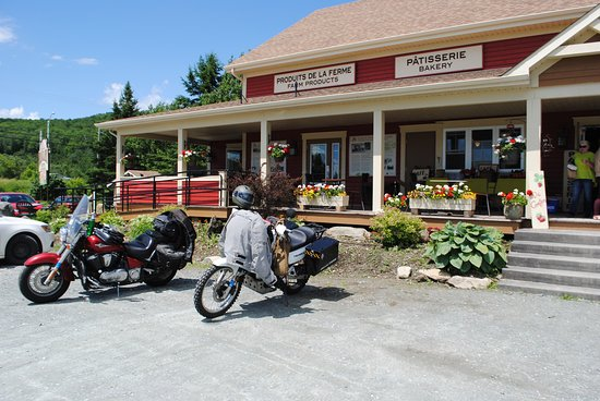 Canaan, VT: A vegetable stand in Quebec.