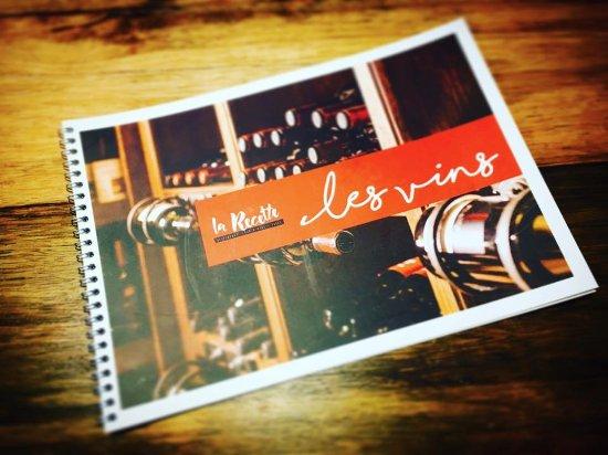Boujan sur Libron, France: Carte des vins de la Recette