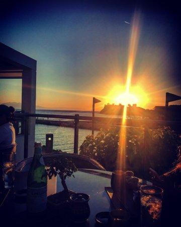 Porto Sani: Sunset at Katsu Restaurant