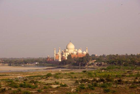 Glimpse of Taj from Agra fort